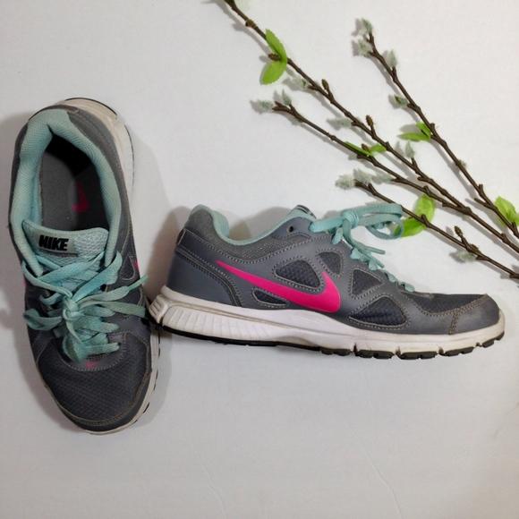 Womens Gray Pink Blue Roshe Sneakers